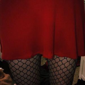 RED TIE STRAPS DRESS